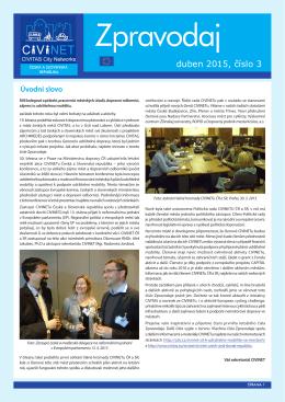 Zpravodaj č. 3, duben 2015
