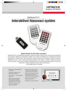 Interaktivní hlasovací systém