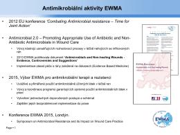Antimikrobiální aktivity EWMA