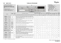 CS AWS 51012 TABULKA PROGRAMŮ W10802912