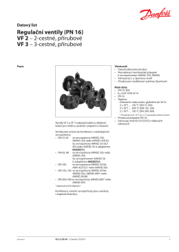 Regulační ventily (PN 16) VF 2 – 2-cestné, přírubové