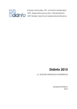 DidInfo 2015 - Základná škola , Trieda SNP 20 , Banská Bystrica