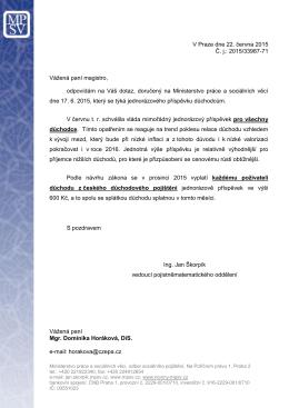 V Praze dne 22. června 2015 Č. j.: 2015/33987