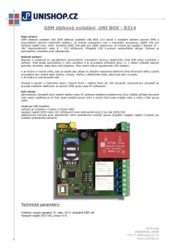 GSM dálkové ovládání UNI BOX - B214