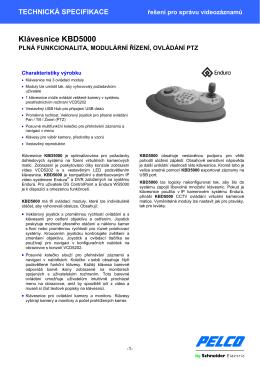 Klávesnice KBD5000 - Schneider Electric CZ, s.r.o.