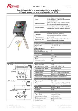 Technický list ETT-K