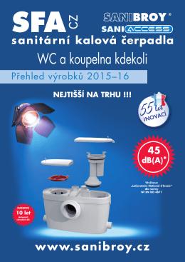 Katalog SFA SANIBROY 2015