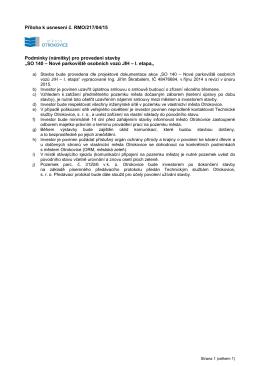 Příloha k usnesení č. RMO/217/04/15 Podmínky (námitky) pro