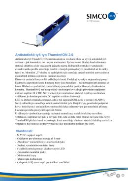 Antistatická tyč typ ThunderION2 specifikace