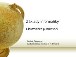 Elektronické publikování.