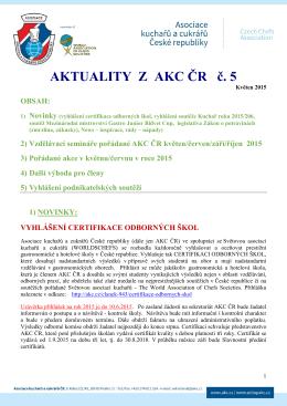 Aktuality z AKC ČR č. 5