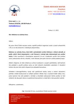 Informace z evidence členské základny České asociace sester