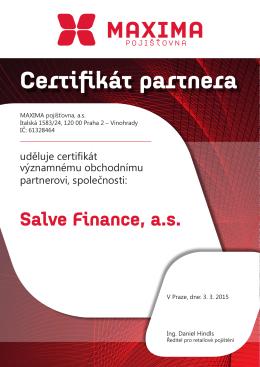 Certifikát partnera