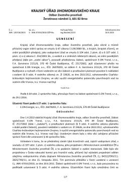 Jmk - Usnesení /83 - Městys Vranov nad Dyjí