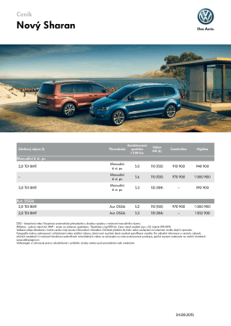 Ceník - Volkswagen