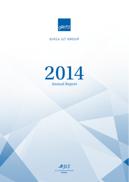 Annual Report 2014 - GrECo JLT