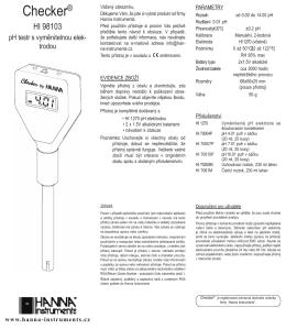 98103 návod - Hanna Instruments