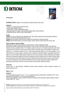 Technický list SUPERKOV® SATIN je základní i vrchní