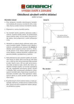 Montáž obložkových zárubní - ostění na tupo