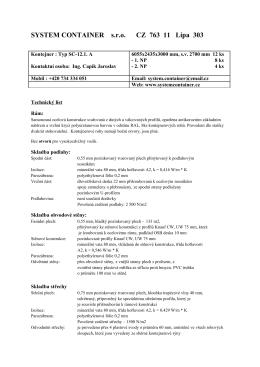 Technický popis - systemcontainer.cz