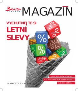 LETNÍ SLEVY - Bondy Centrum