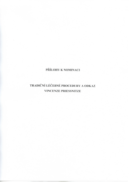 Tradiční léčebné procedury a odkaz V. Priessnitze