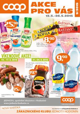 AKCE PRO VAS 9/2015 - Jednota, spotřební družstvo v Hodoníně