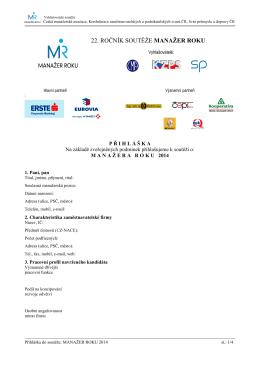 MR 2014 - přihláška
