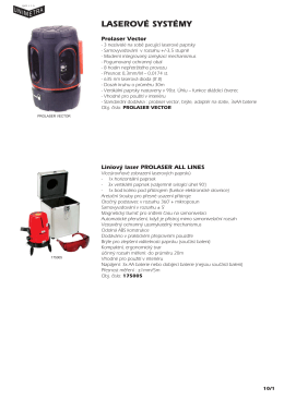 Laserové systémy - UNIMETRA spol. s ro