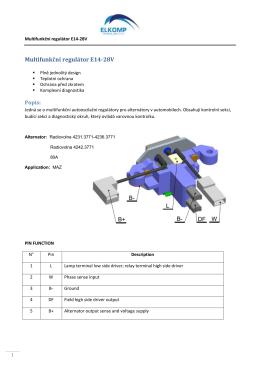 Multifunkční regulátor E14-28V
