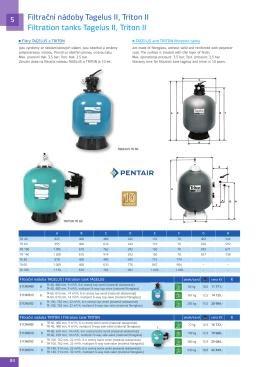Filtrační nádoby Tagelus II, Triton II Filtration tanks Tagelus II, Triton II