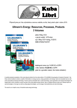 Ullmann`s Energy: Resources, Processes, Products