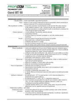 Základní popis a použití: Charakteristika roztok rozpouštědla a