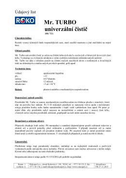 Údajový list