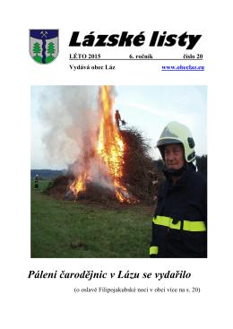 Lázské listy- léto 2015