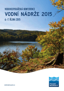 Vodní nádrže 2015 - Konference VODNÍ NÁDRŽE