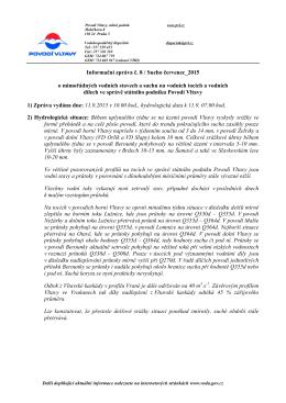 Informační zpráva č. 8 / Sucho červenec_2015 o mimořádných