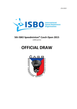 5th ISBO Speedminton® Czech Open 2015
