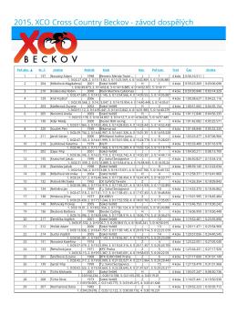 PDF dokument s výsledky