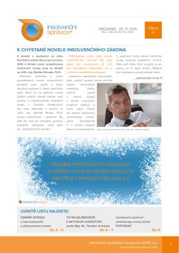 Newsletter č.11. ze dne 25.11. 2015