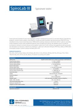 SpiroLab III Spirometr stolní