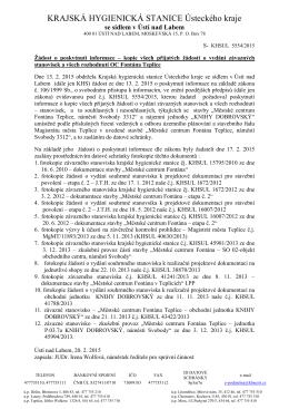 kopie všech přijatých žádostí o vydání závazných stanovisek a