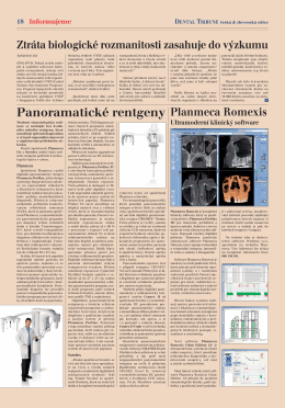 Panoramatické rentgeny - Dental Tribune International