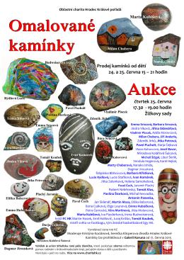 Omalované kamínky Aukce - Oblastní charita Hradec Králové