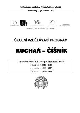 Kuchař čísník - SOŠ a SOU Horšovský Týn