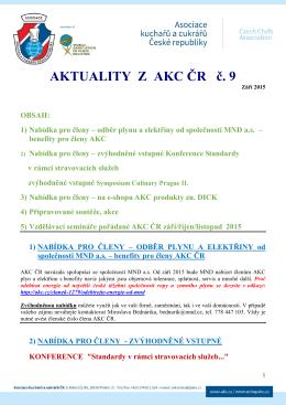 Aktuality z AKC ČR č. 9