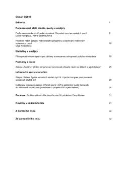 Obsah 6/2015 Editorial Recenzované stati, studie, úvahy a analýzy