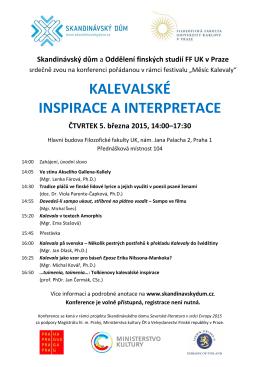 kalevalské inspirace a interpretace