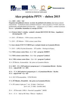 Akce projektu PPTV – duben 2015