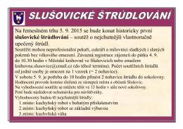 Plakátek Slušovické štrúdlování